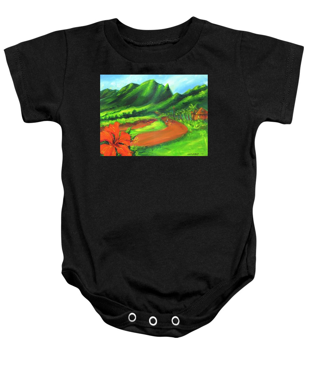 Hawaii Baby Onesie featuring the painting Country Comfort by Hanako Hawaii