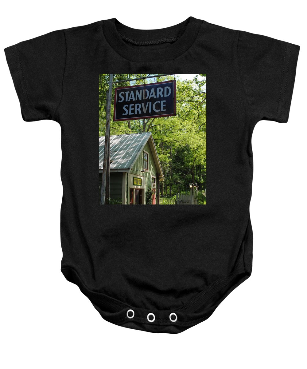 Standard Baby Onesie featuring the photograph Country Gas by Jost Houk