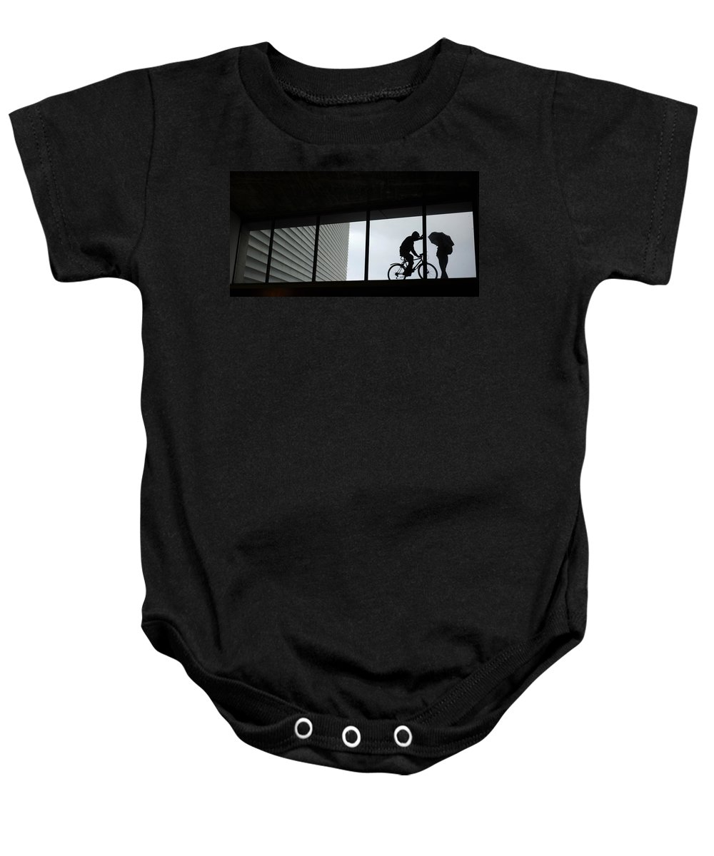 Spain Baby Onesie featuring the photograph Couple At The Window by Rafa Rivas