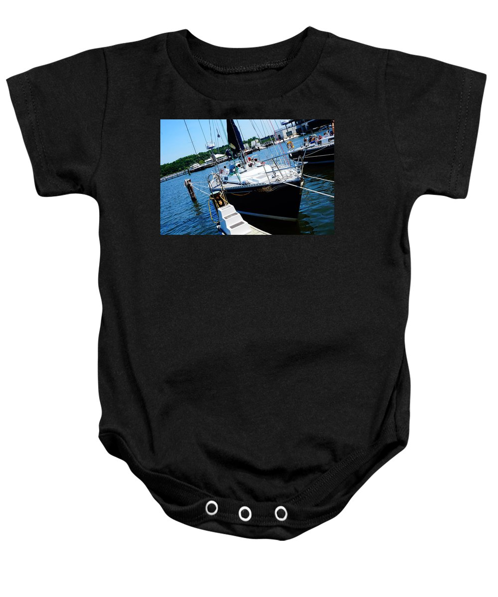 Annapolis Baby Onesie featuring the photograph Courage by Beth Deitrick