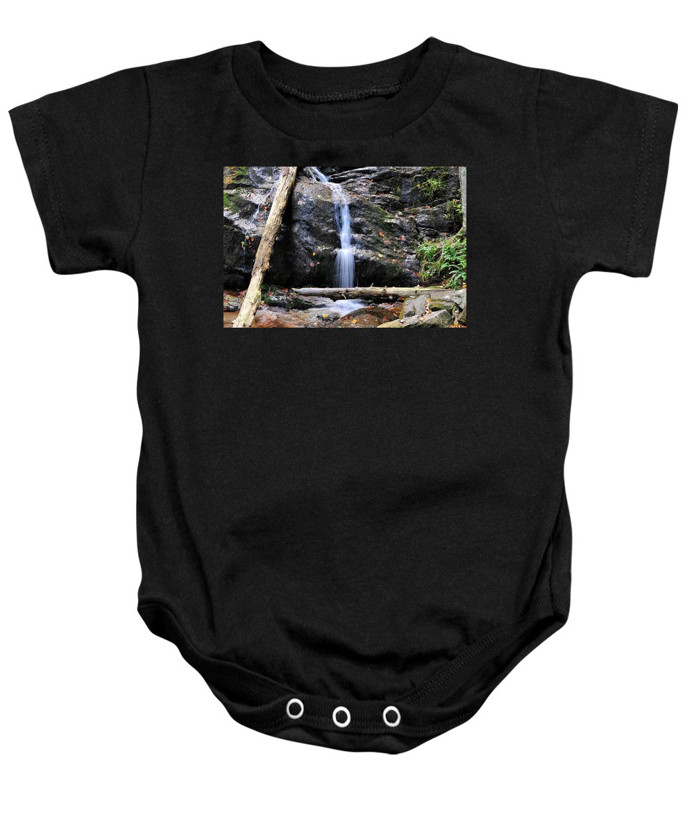 Crabtree Falls Baby Onesie featuring the photograph Crabtree Falls In Fall by Todd Hostetter