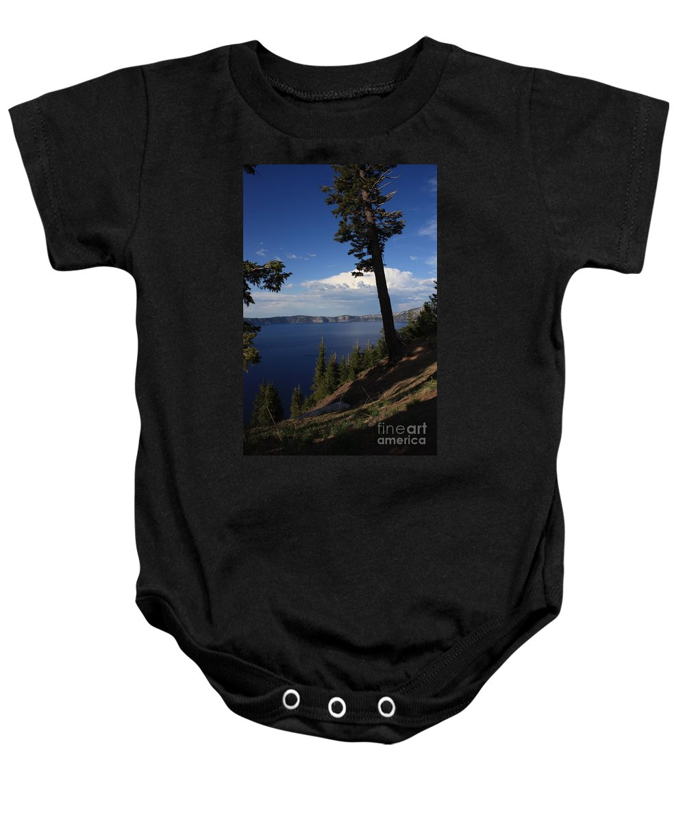 Landscape Baby Onesie featuring the photograph Crater Lake 7 by Carol Groenen