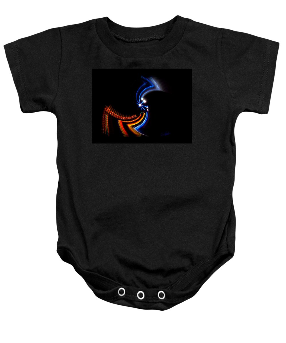 Chaos Baby Onesie featuring the photograph Crazy Dancer by Charles Stuart