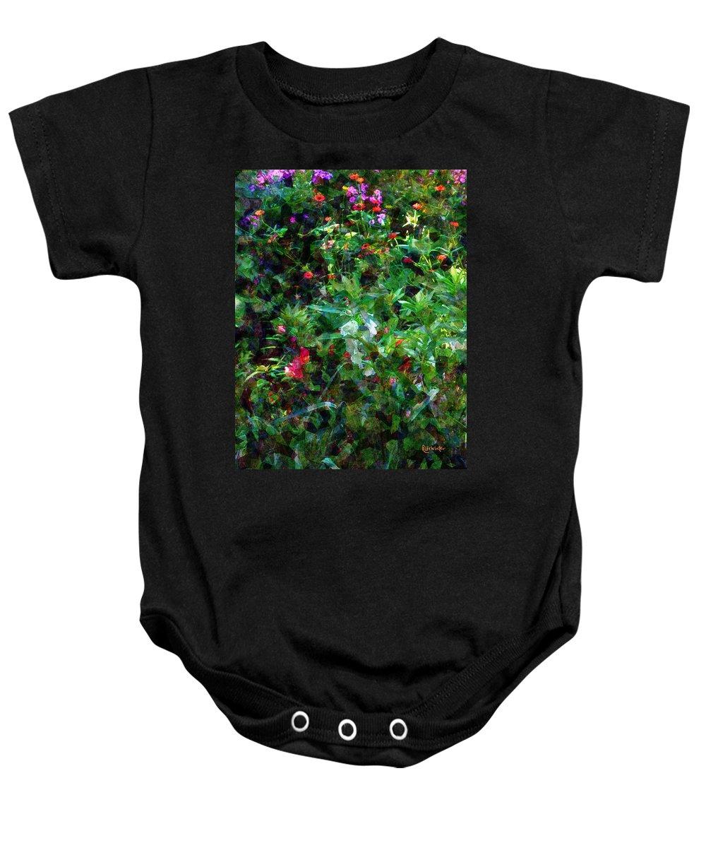Garden Baby Onesie featuring the digital art Crazyquilt Garden by RC DeWinter