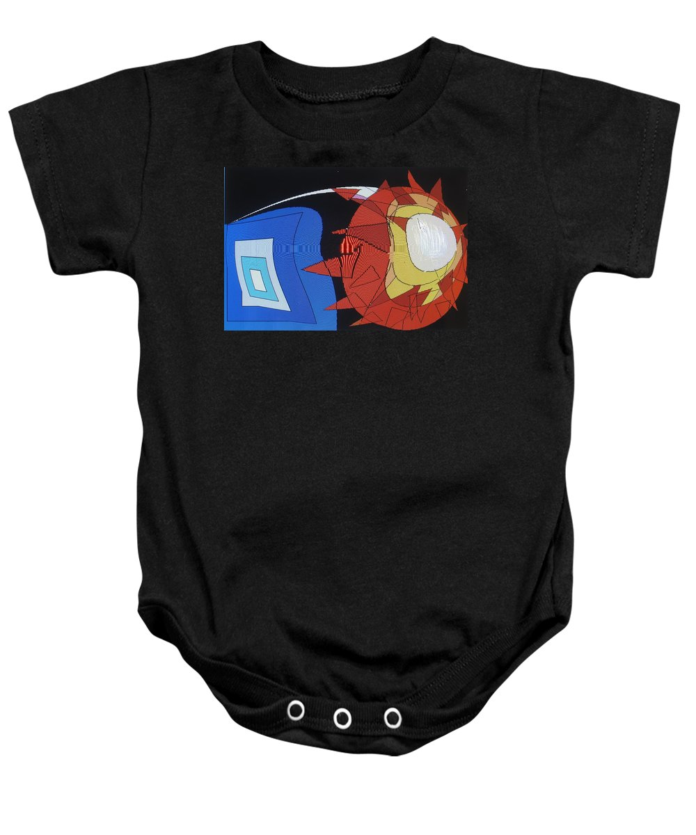 Abstract Baby Onesie featuring the digital art Crescendo One by Ian MacDonald