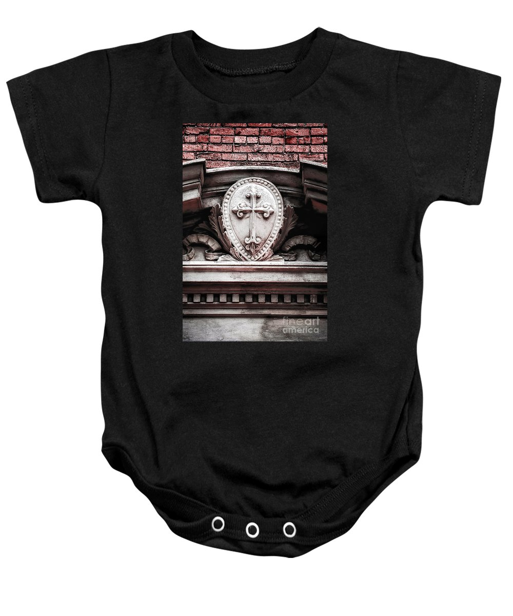 New Orleans Baby Onesie featuring the photograph Cross 2 by Frances Ann Hattier