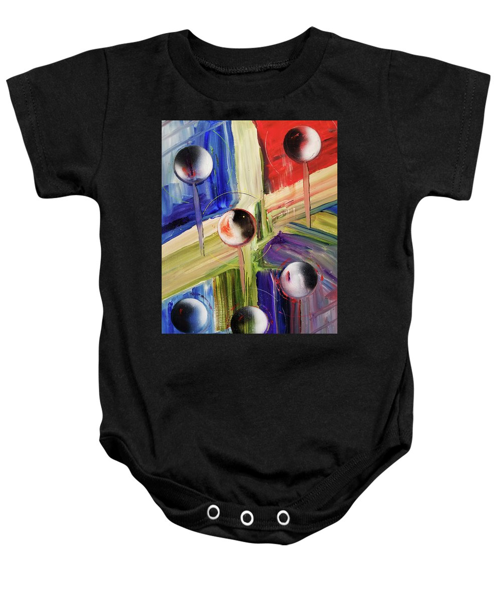 Painting Baby Onesie featuring the painting Crossing Dimensions by David Deak