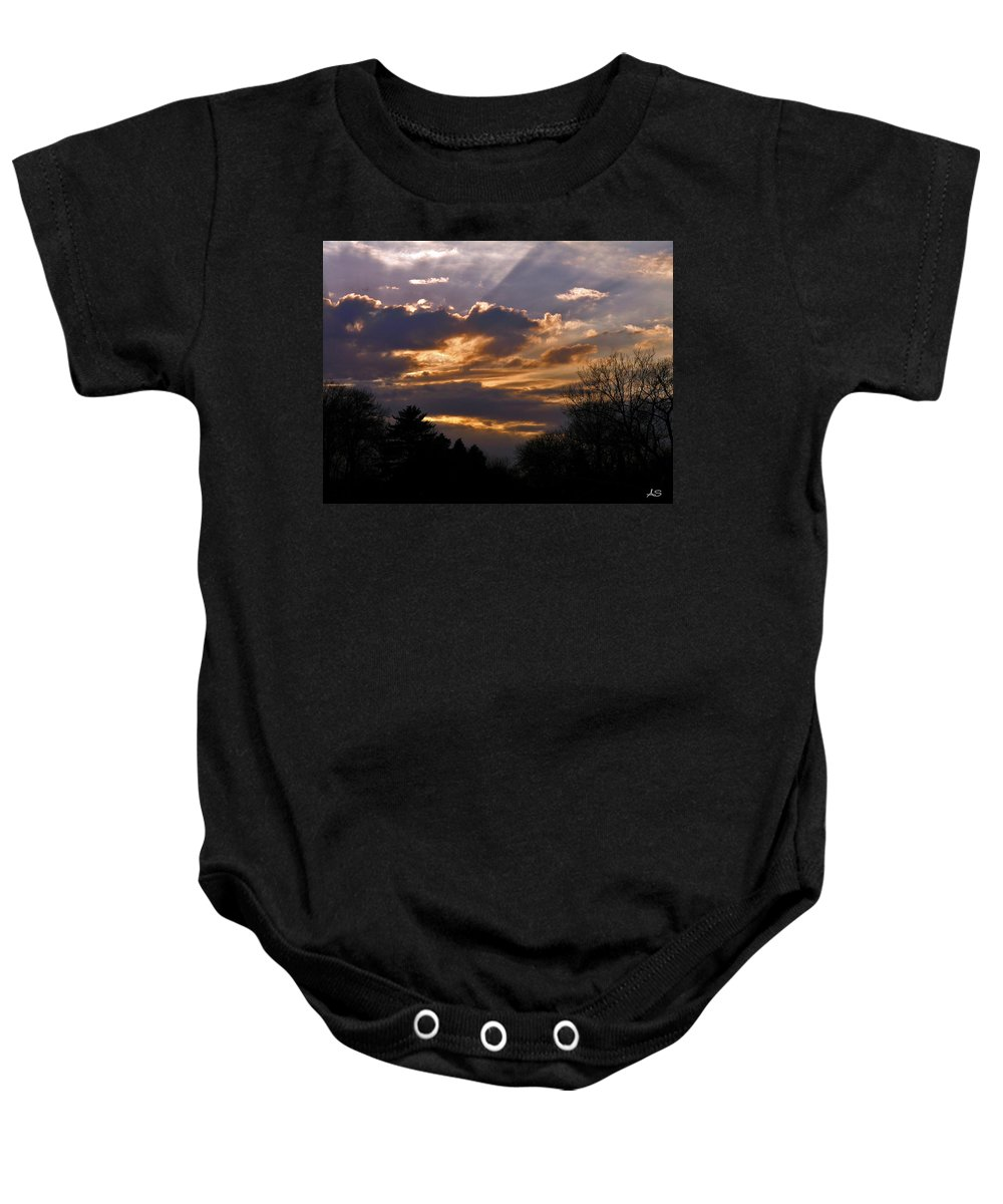 Cloud Baby Onesie featuring the photograph Crown Cloud by Albert Stewart