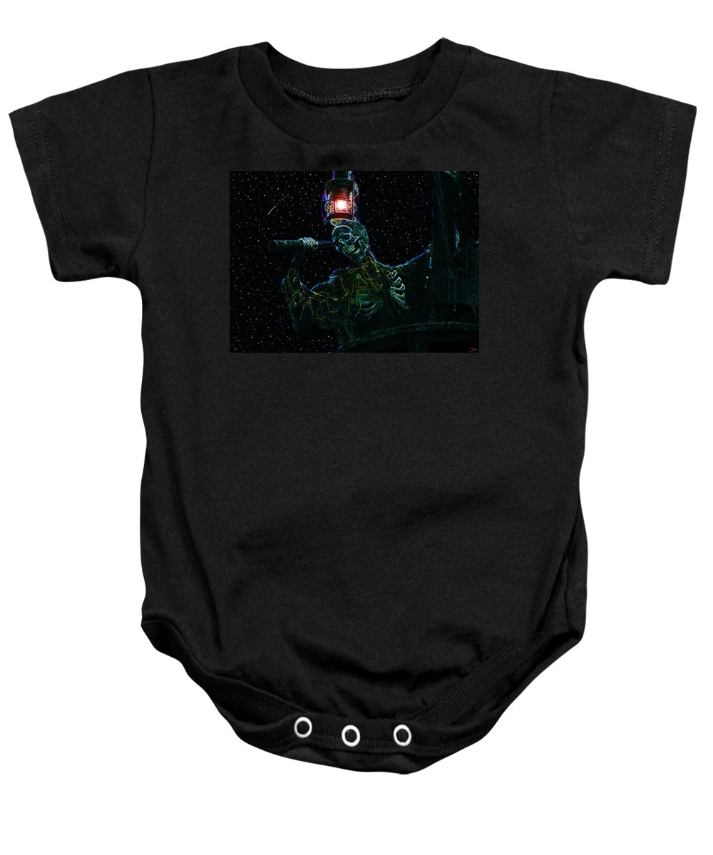 Art Baby Onesie featuring the painting Crows Nest by David Lee Thompson