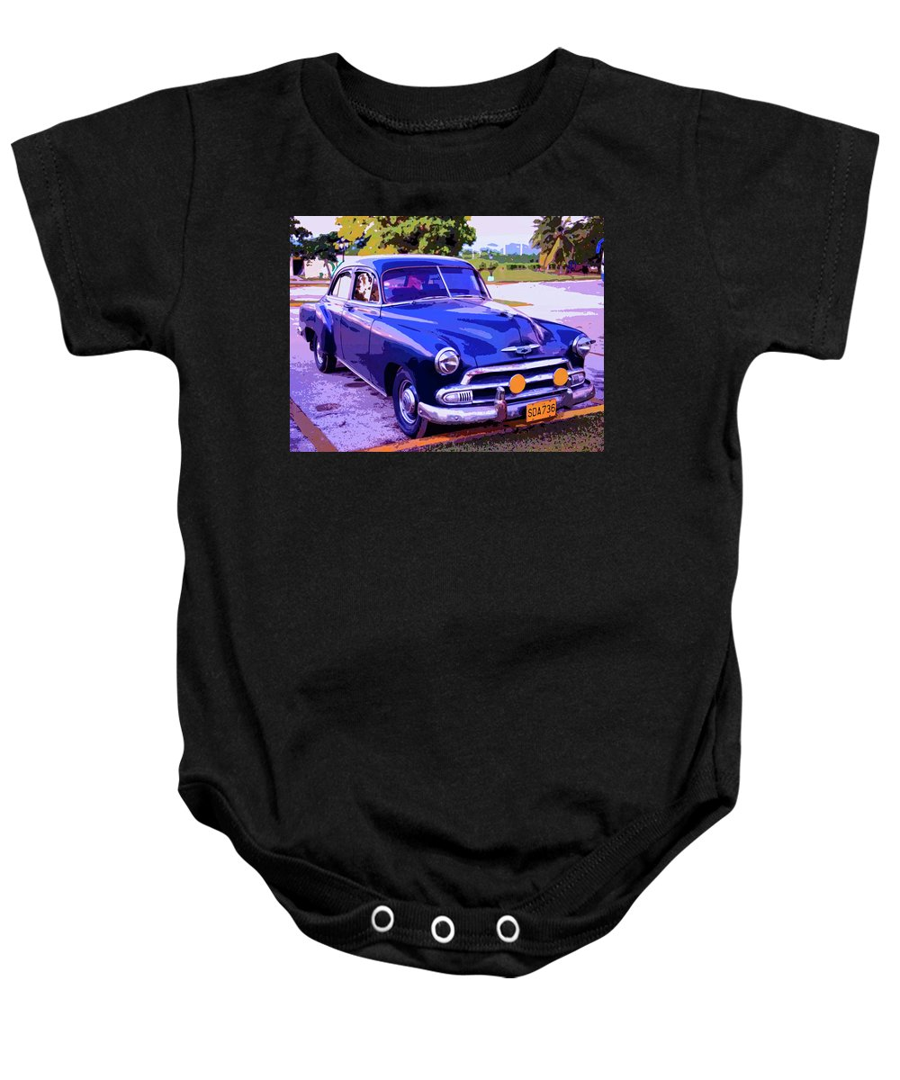 Cruiser Baby Onesie featuring the mixed media Cruiser by Dominic Piperata