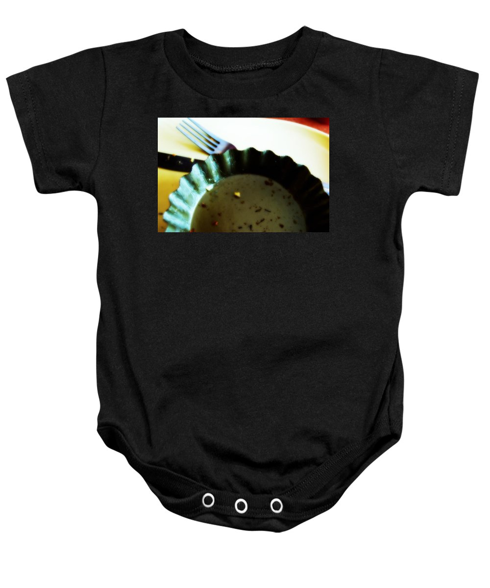 Crumbs Baby Onesie featuring the photograph Crumbs by Paulette B Wright