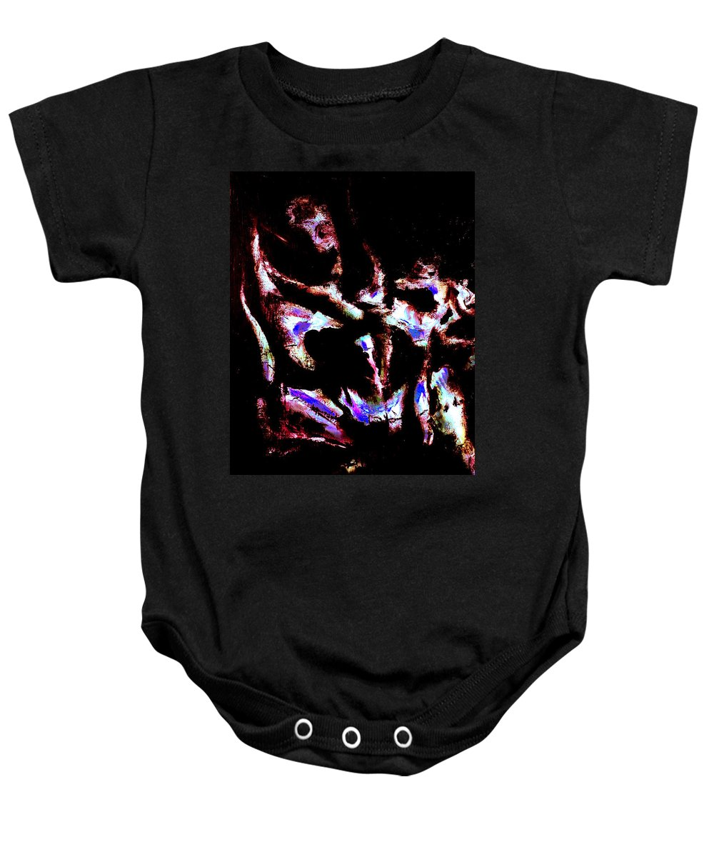 Armenian Artist Baby Onesie featuring the painting Cry Wild 1.1 by Giro Tavitian