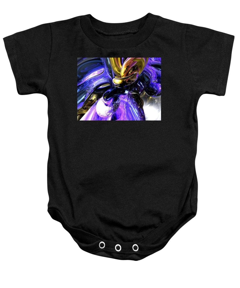 3d Baby Onesie featuring the digital art Crystalized Ecstasy Abstract by Alexander Butler