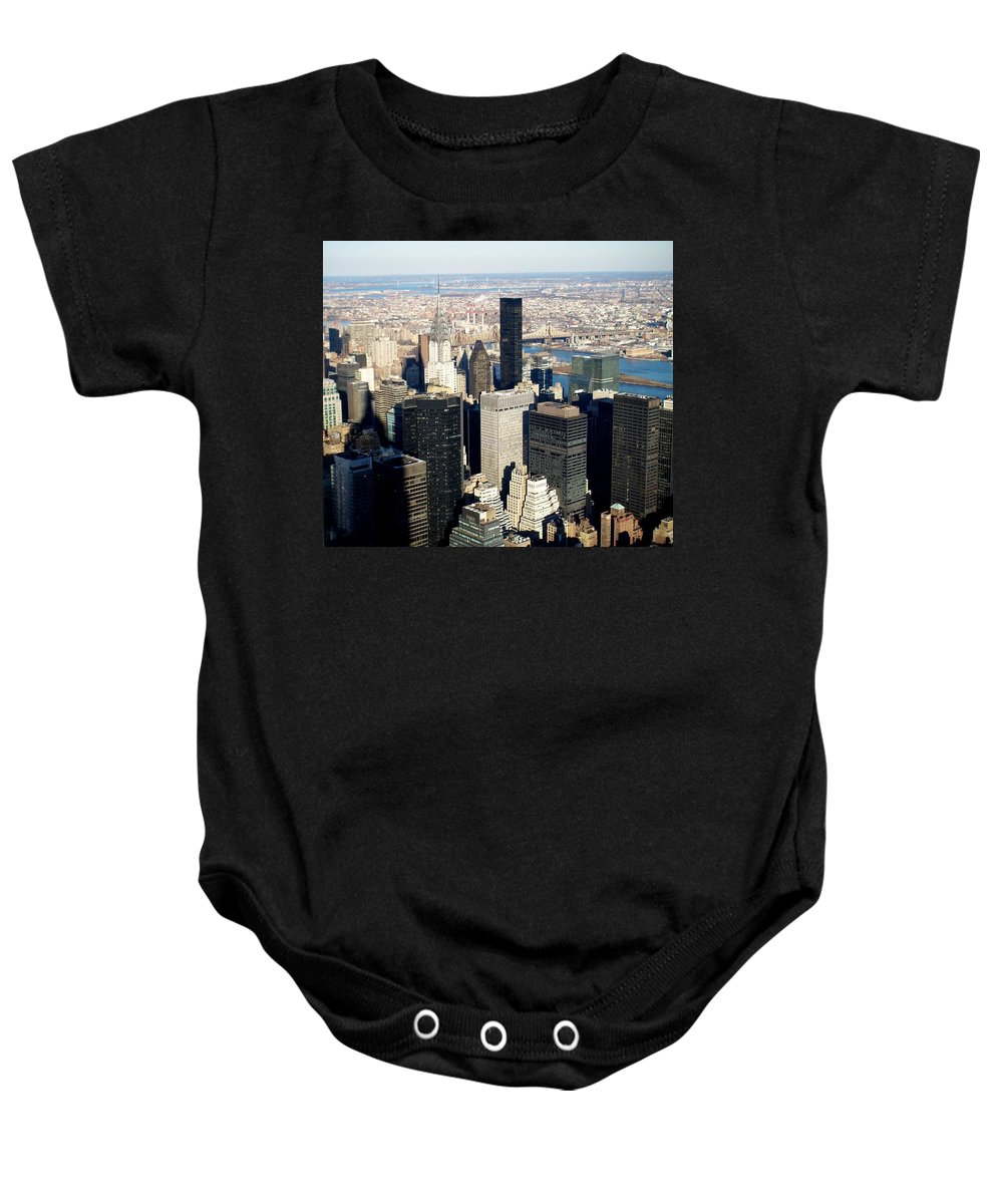 Crystler Building Baby Onesie featuring the photograph Crystler Building 2 by Anita Burgermeister