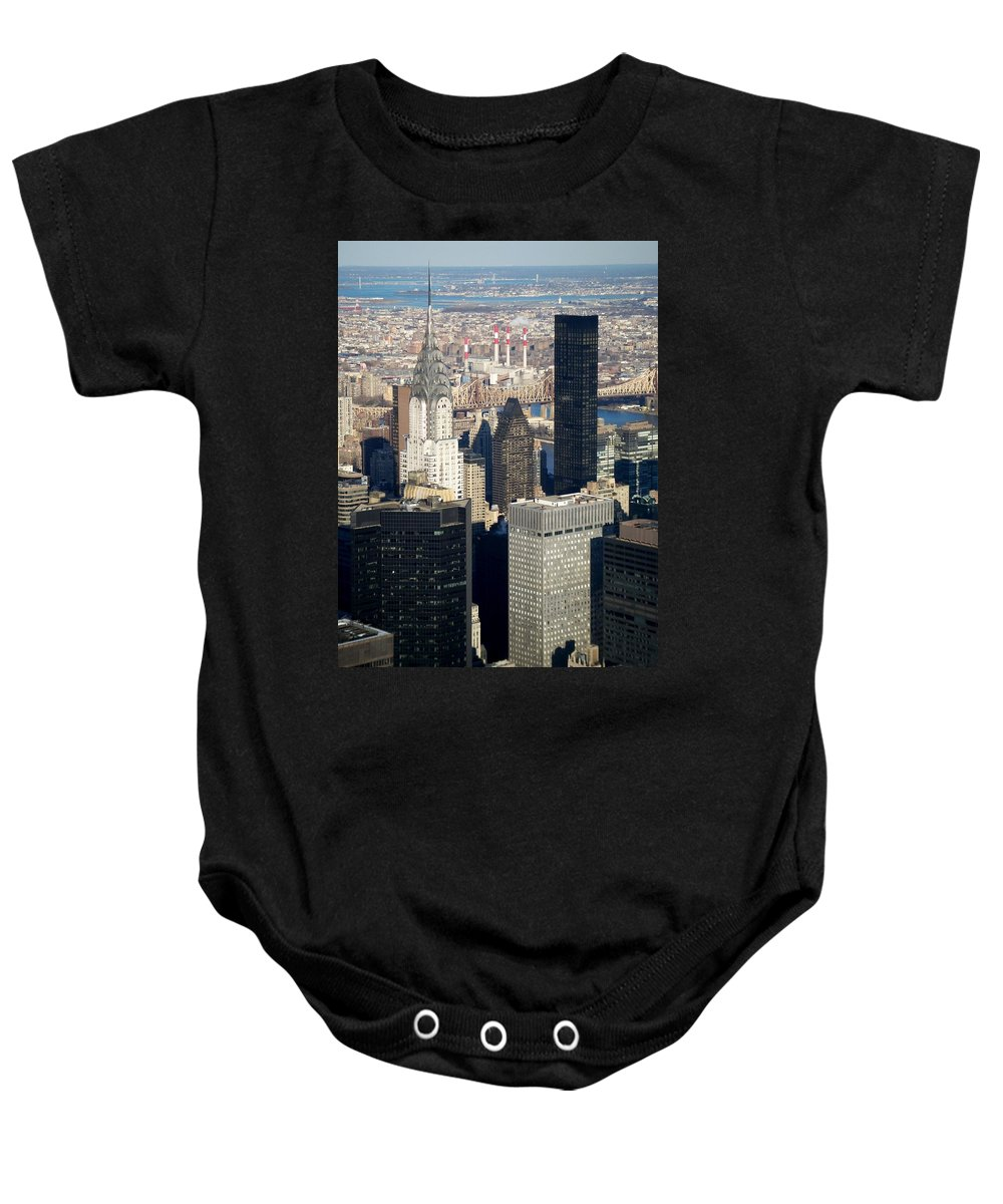Crystler Building Baby Onesie featuring the photograph Crystler Building by Anita Burgermeister