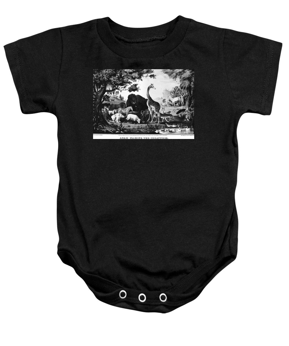 1847 Baby Onesie featuring the photograph Currier: Adam by Granger