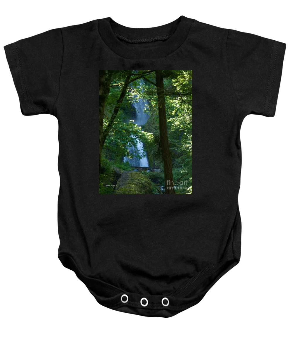 Waterfall Baby Onesie featuring the photograph Curves by Shari Nees