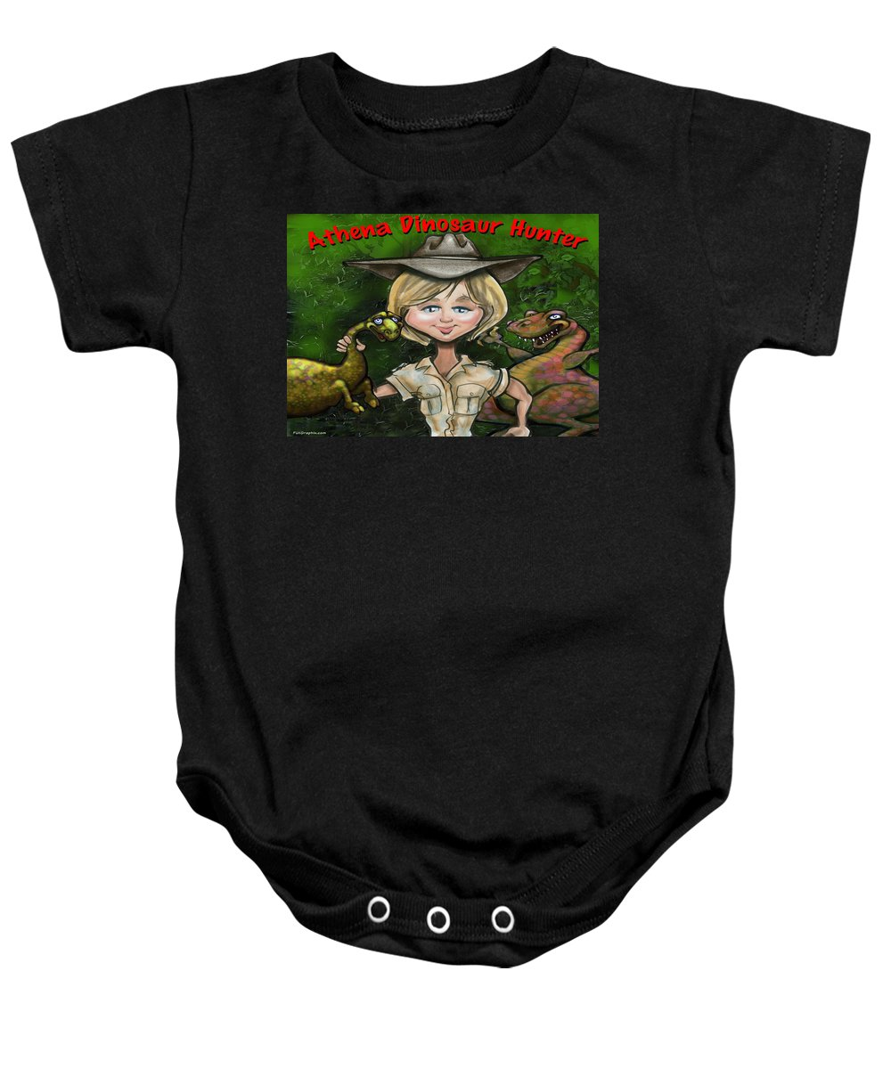 Caricature Baby Onesie featuring the painting Custom Gift Caricature by Kevin Middleton