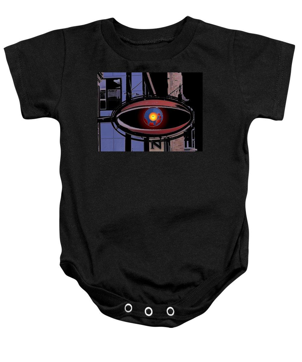 Seattle Baby Onesie featuring the digital art Cyclops by Tim Allen