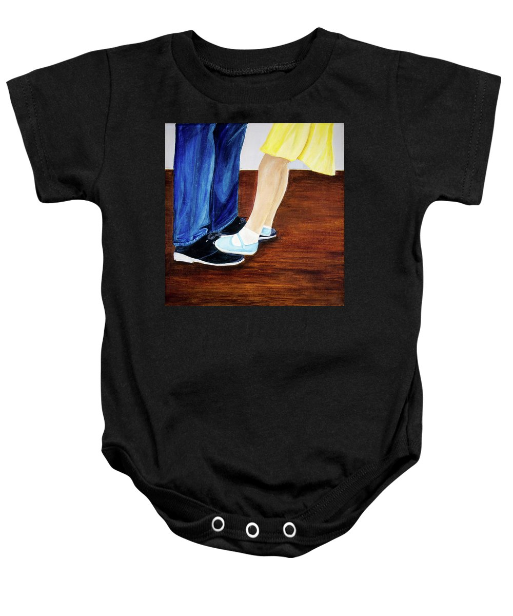 Fathers Day Gift Baby Onesie featuring the photograph Dad And Me by Arohika Verma