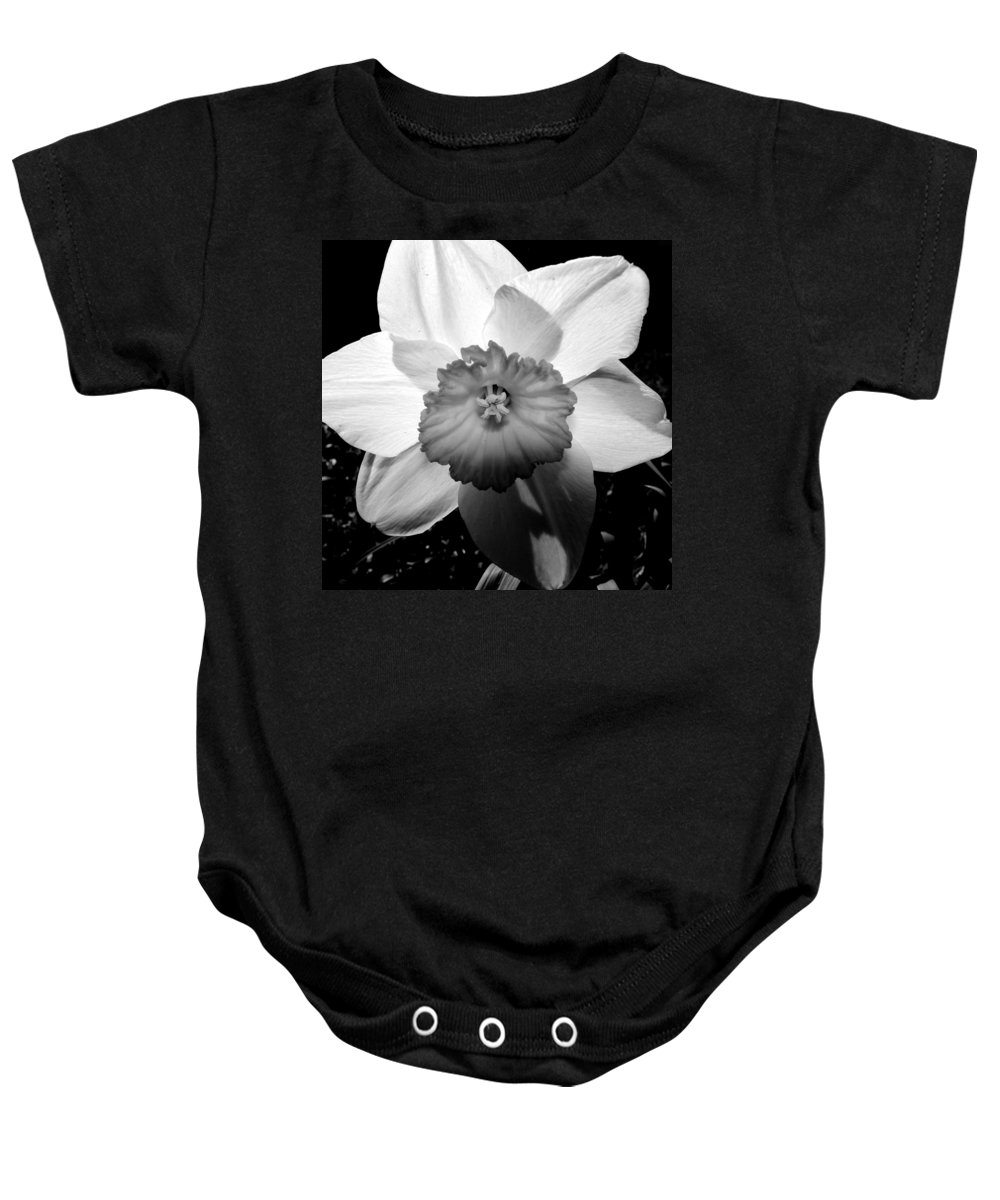 Daffodil Baby Onesie featuring the photograph Daffodil In Springtime by Michelle Calkins