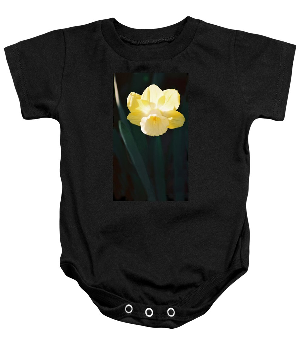 Daffodil Baby Onesie featuring the photograph Daffodil by Steve Karol