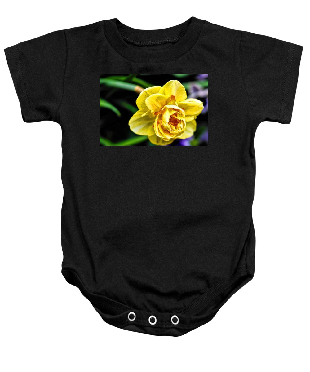 Flower Photography Baby Onesie featuring the photograph Daffodils by Diana Mary Sharpton