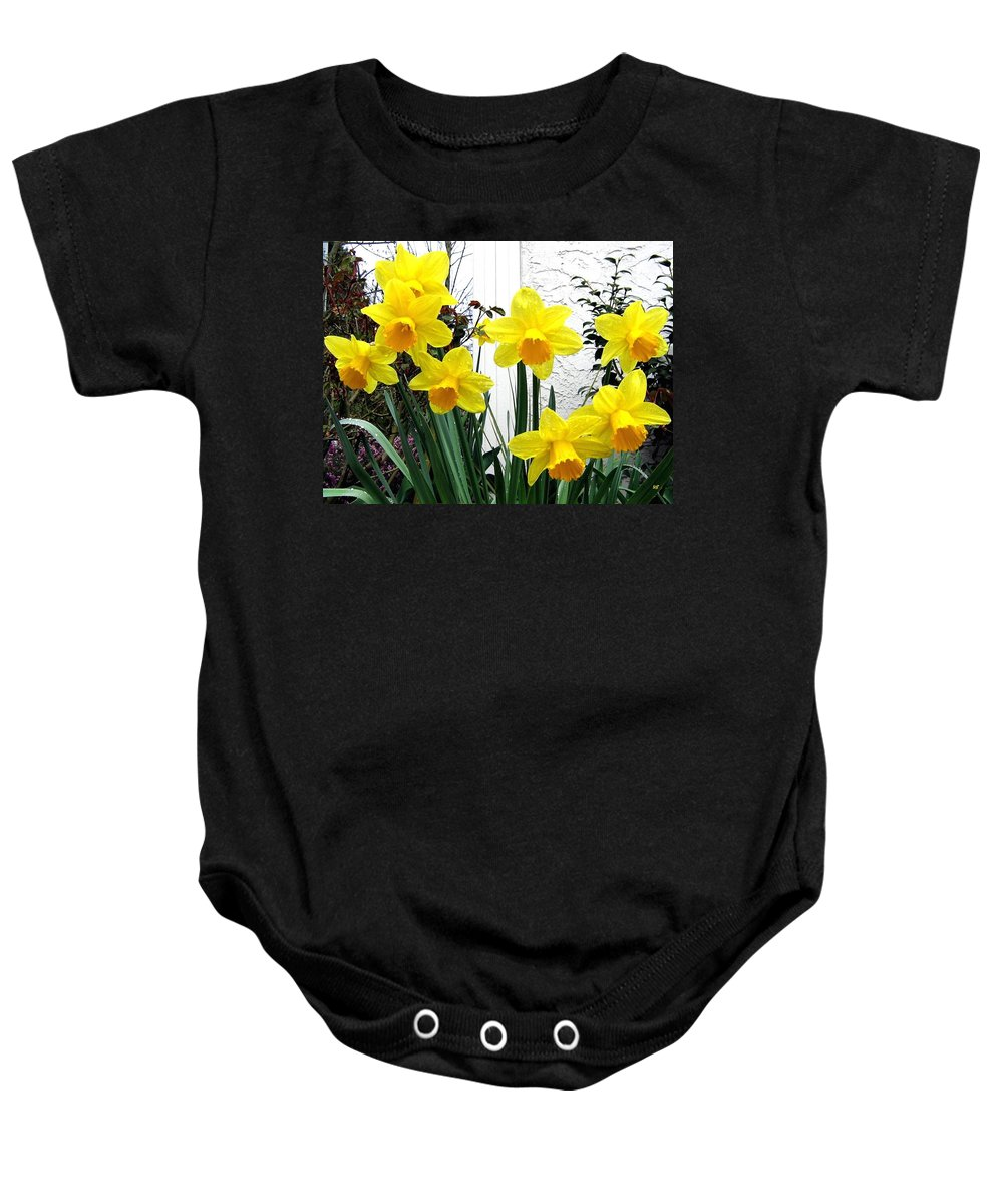 Daffodils Baby Onesie featuring the photograph Daffodils by Will Borden