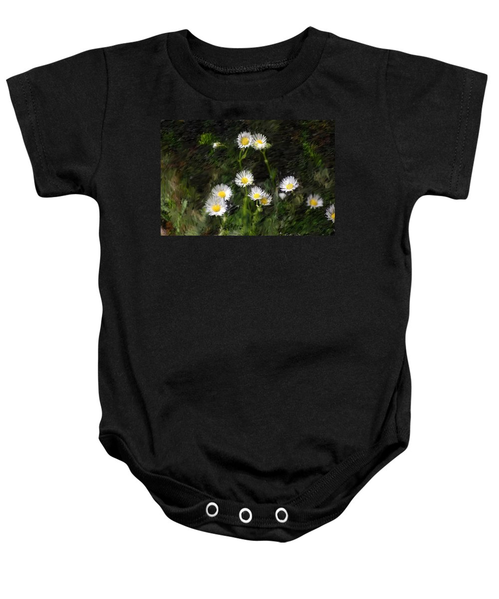 Digital Photograph Baby Onesie featuring the photograph Daisy Day Fantasy by David Lane
