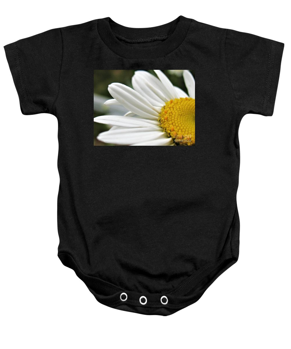 Daisy Baby Onesie featuring the photograph Daisy by Patti Whitten