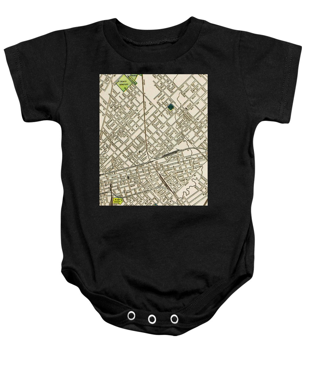 Texas Baby Onesie featuring the drawing Dallas Texas Map 1899 by Peter Ogden Gallery