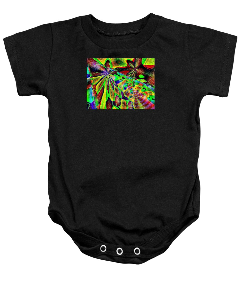 Computer Art Baby Onesie featuring the digital art Damselwing by Dave Martsolf