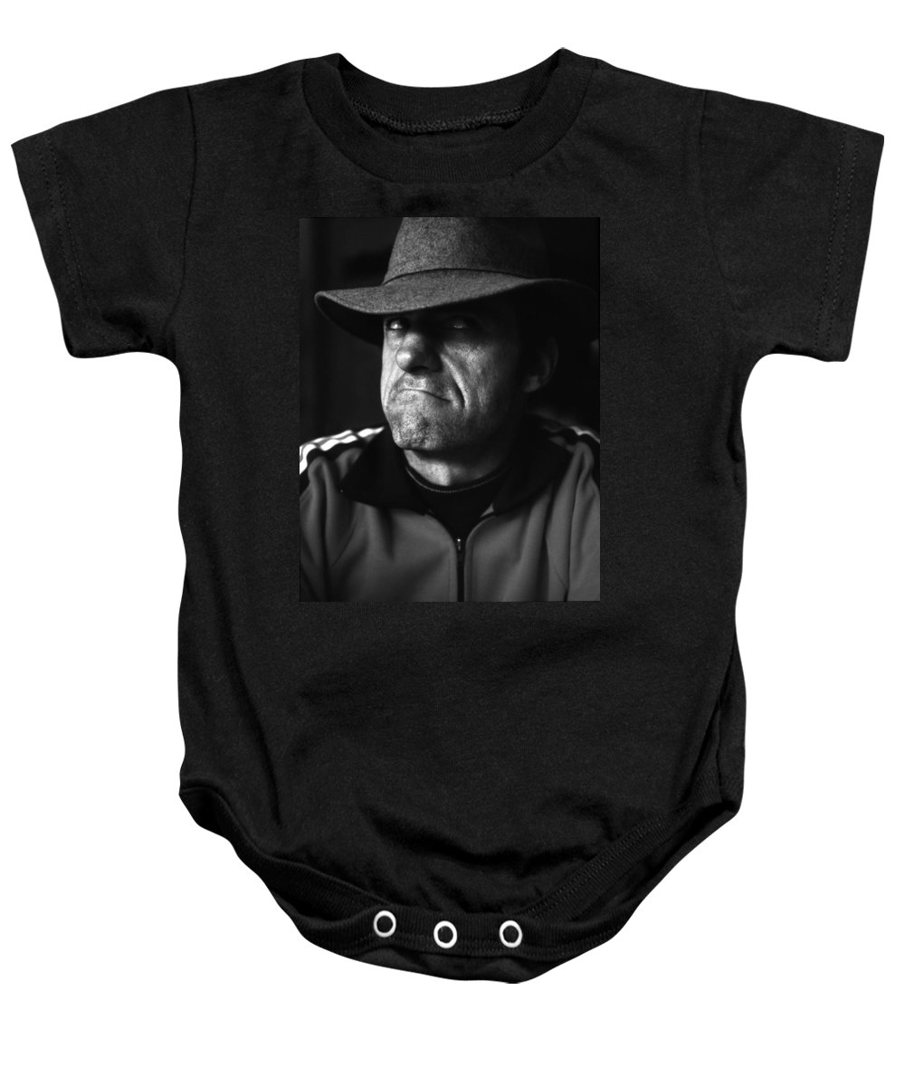 Portrait Baby Onesie featuring the photograph Dana by Lee Santa