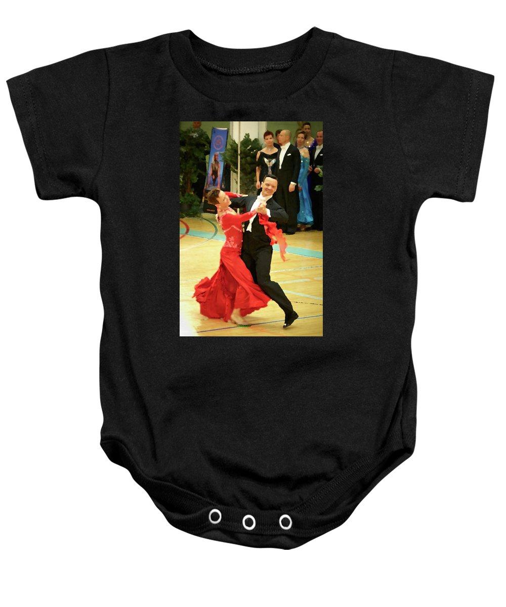 Lehtokukka Baby Onesie featuring the photograph Dance Contest Nr 09 by Jouko Lehto