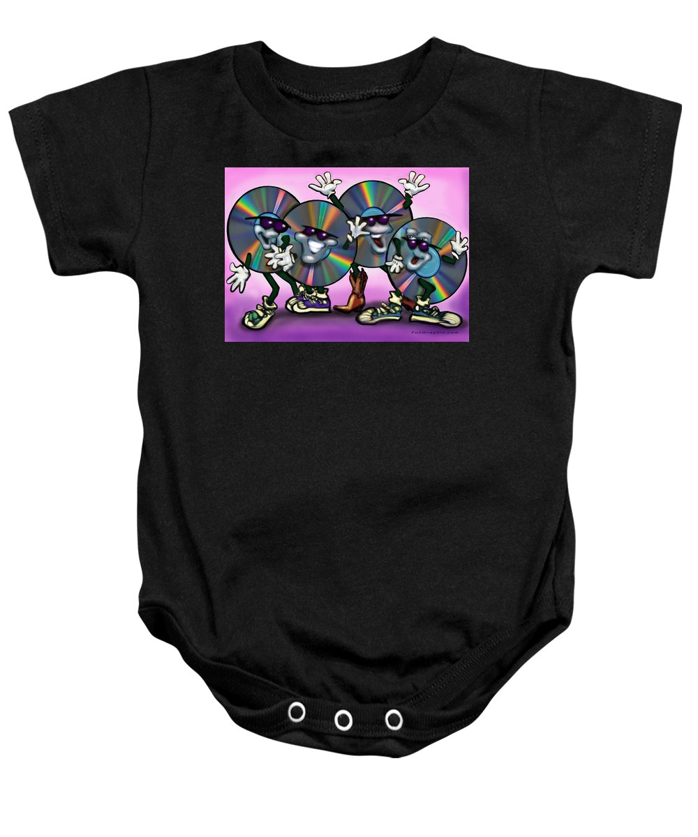 Dance Baby Onesie featuring the greeting card Dance Music by Kevin Middleton