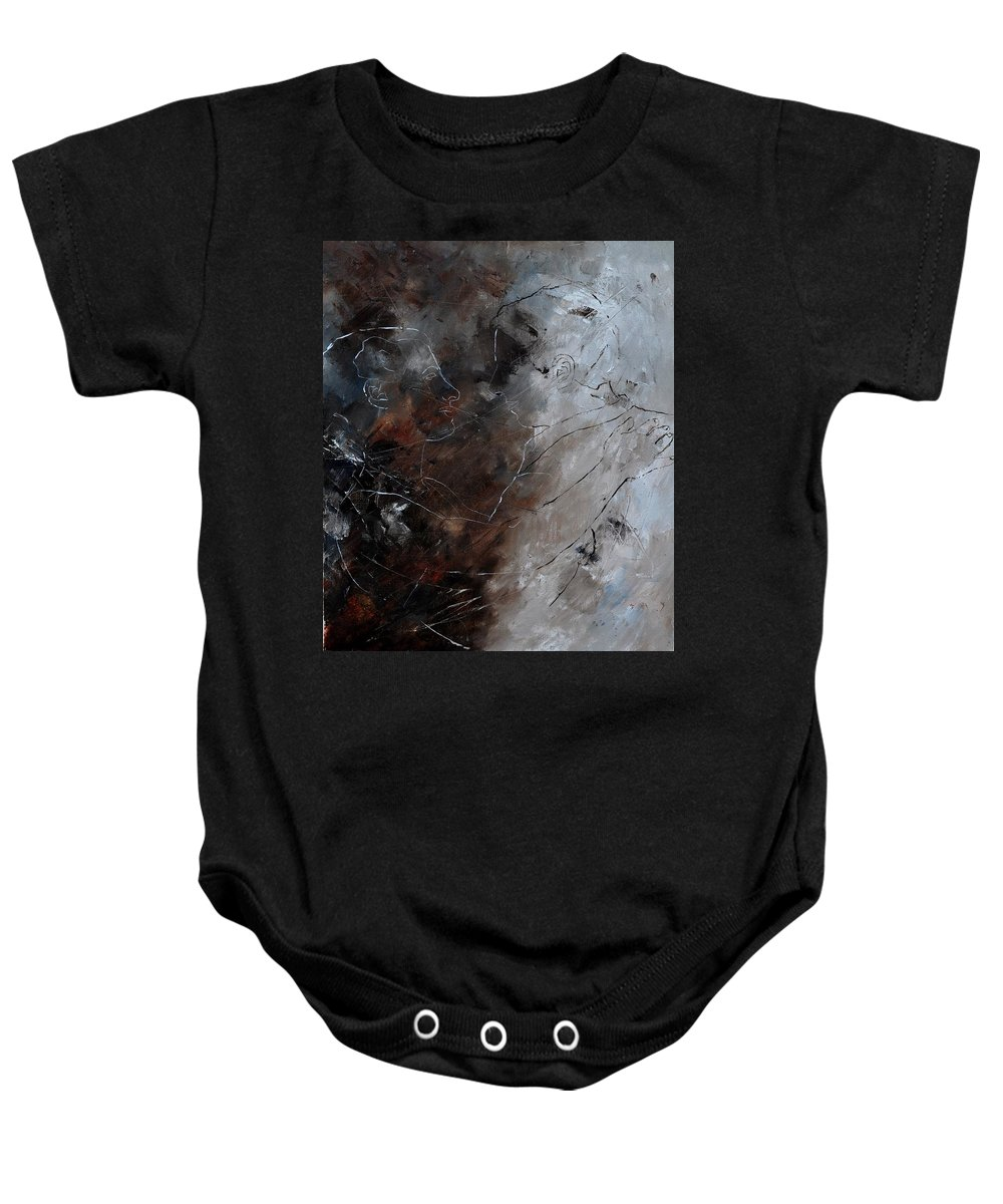 Dance Baby Onesie featuring the painting Dancers by Pol Ledent