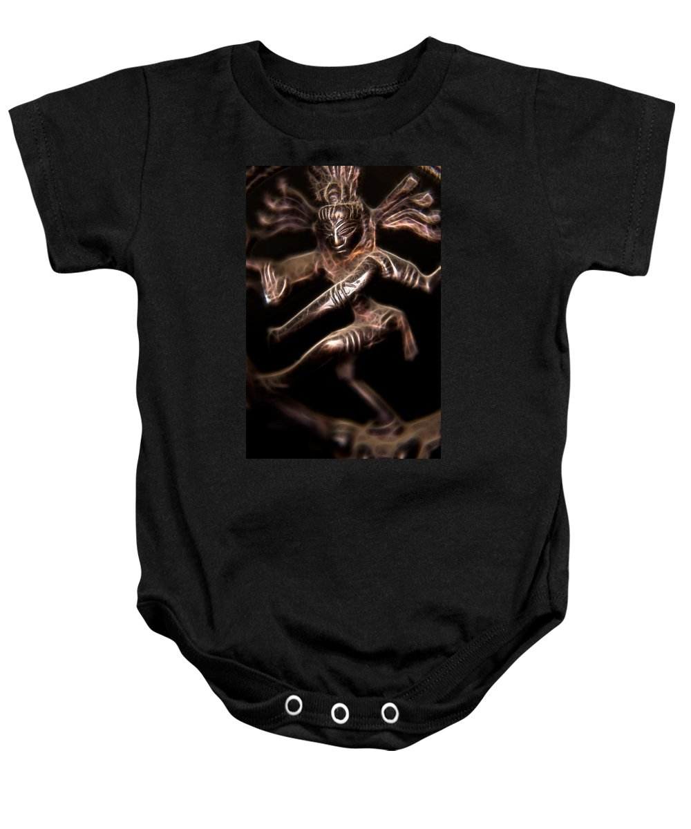 Ayurveda Baby Onesie featuring the photograph Dancing Shiva by Rich Leighton