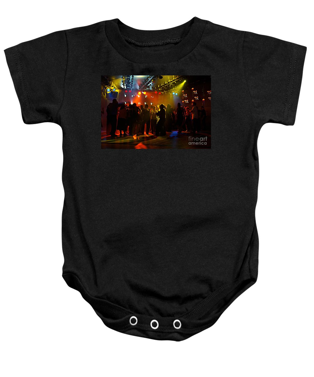 Dance Baby Onesie featuring the photograph Dancing To The Music by Zal Latzkovich