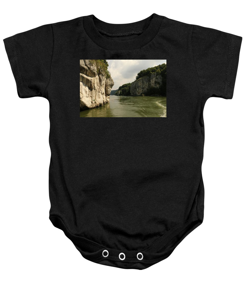 River Baby Onesie featuring the photograph Danebu Gorge by Christiane Schulze Art And Photography