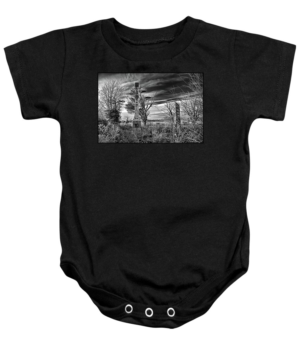 2d Baby Onesie featuring the photograph Dark Days by Brian Wallace