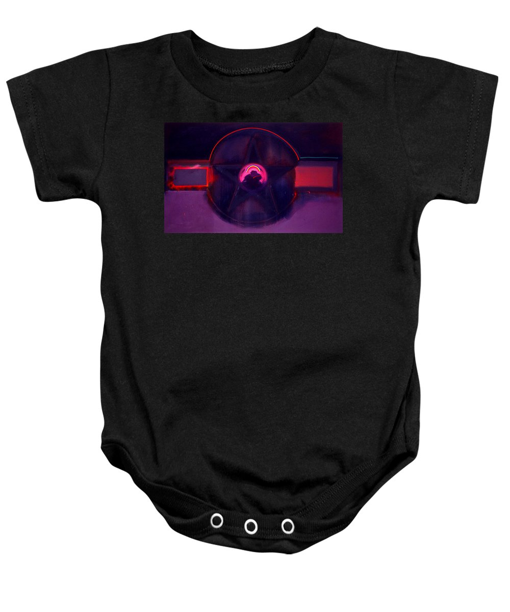 Usaaf Insignia Baby Onesie featuring the painting Dark Star by Charles Stuart