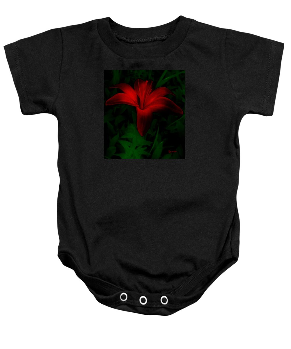 Lily Baby Onesie featuring the painting Dark Star by RC deWinter