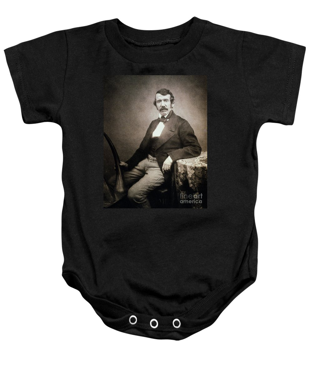 1864 Baby Onesie featuring the painting David Livingstone (1813-1873) by Granger