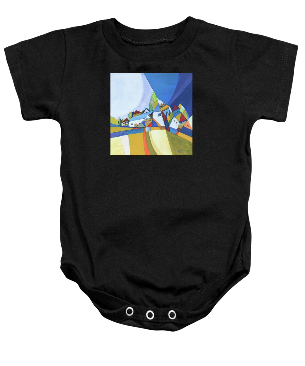 Acrylic Baby Onesie featuring the painting Dawn by Aniko Hencz