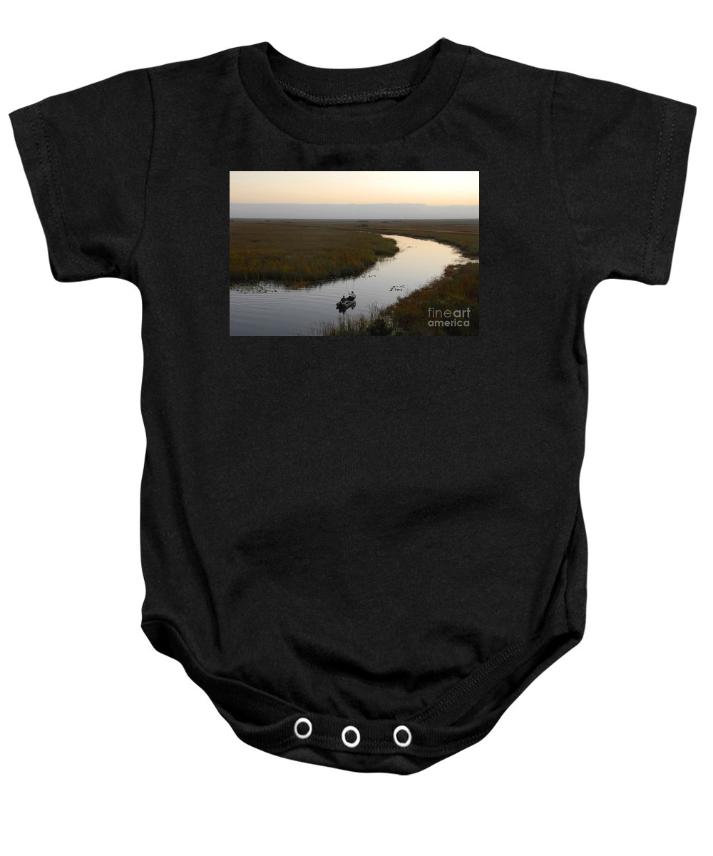 Fishing Baby Onesie featuring the photograph Dawn Everglades Florida by David Lee Thompson