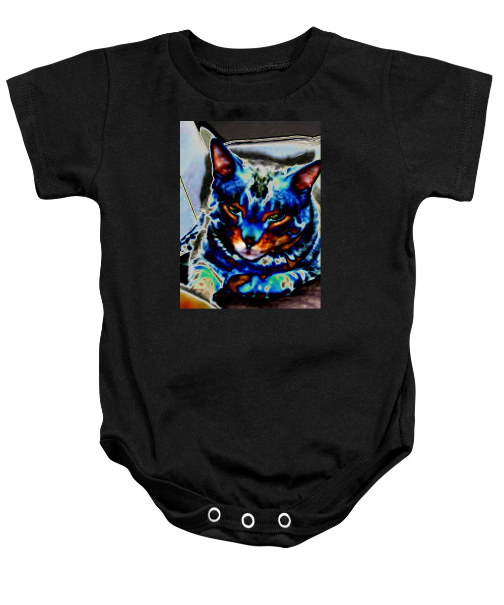 Cat Baby Onesie featuring the photograph Day Dreamer by Dawn Johansen