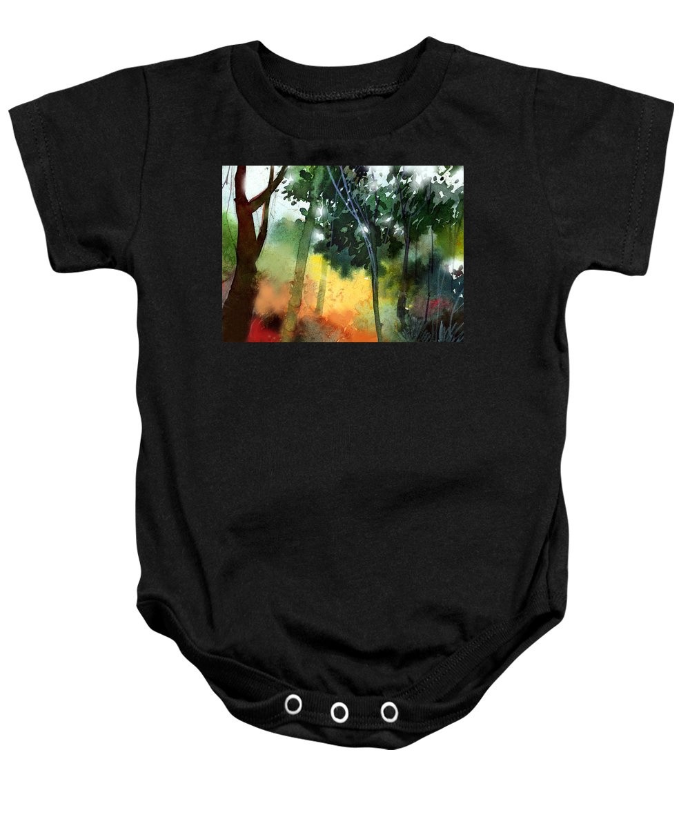 Water Color Baby Onesie featuring the painting Daybreak by Anil Nene