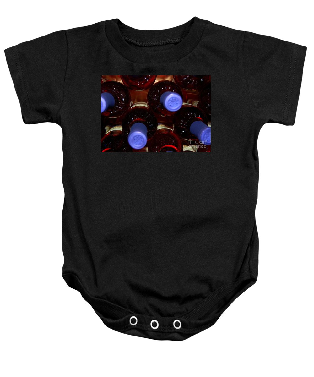 Wine Baby Onesie featuring the photograph De-vine Wine by Debbi Granruth