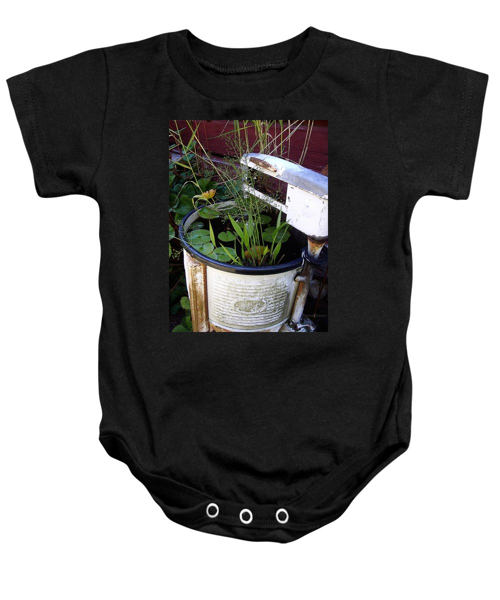 Wringer Baby Onesie featuring the photograph Dead Wringer by Tim Nyberg