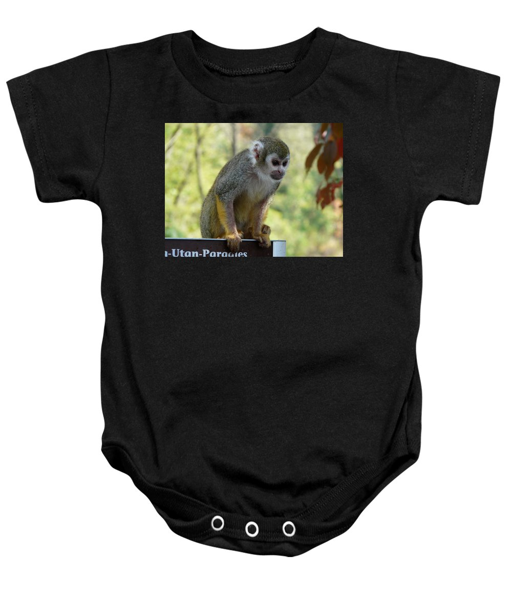 Animal Baby Onesie featuring the photograph Deceptive Paradise by Valerie Ornstein